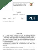 PROGRAMA DE SEMINARIO DE INVESTIGACI+ôN II