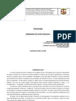 PROGRAMA DE SEMINARIO DE INVESTIGACION I
