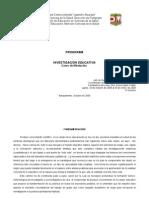PROGRAMA INVESTIGACION EDUCATIVA (EDUCACION MEDICA)