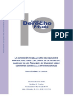 ALTERACION DEL EQUILIBRIO CONTRACTUAL EN EL COMERCIO INTERNACIONAL