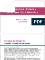 II REUNIÓN LIDERES MAESTROS 18-10-2020