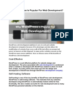 Why WordPress is Popular for Web Development
