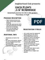 Coach Flem's Skills n' Scrimmage HPNC Feb. 2011