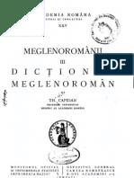 Dictionar Meglenoroman Theodor Capidan