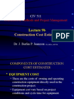 Lecture 9b- Construction Cost Estimates.pptx