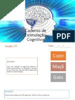 caderno de estimulação cognitiva ppt
