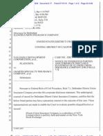 VAN DAELE DEVELOPMENT CORPORATION et al v. CHARTIS SPECIALTY et al Corporate Disclosure Statement