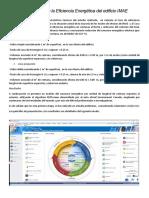 Eficiencia energética. Análisis prliminar del edicio IMAE. Versión 4.1