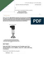 9073981 - Wika 9073981 Transmissor de Pressão de Uso Geral Modelo S-10 4-20MA, 2 fios G1 _ 2B X DIN Aço Inoxidável