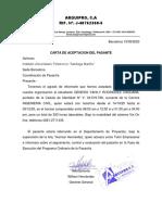 ARQUIPRO Corregida Carta de aceptacion del pasante Genesis Rodriguez