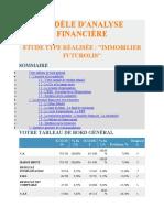 MODÈLE D'ANALYSE FINANCIÈRE
