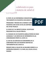 Proyectos colaborativos para abarcar en materia de salud el COVID.docx
