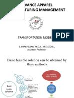 Transportation problem LCM