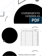 EXPERIMENTO GONDOLAS