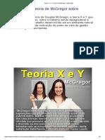 Teoria X e Y _ Teoria de McGregor _ Motivação