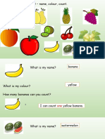 Fruit Name Colours Count