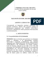 SENTENCIA RAD 2013-265