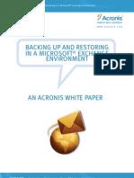 Acronis - Exchange Recovery Whitepaper