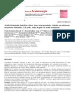 Artritis Reumatoide beneficios clínicos observados en pacientes tratados con anticuerpo monoclonal Itolizum