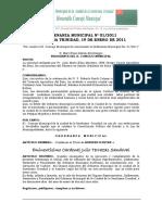 ORDENANZA MUNICIPAL Nº 001-2011