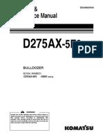 O&M D275AX-5E0 30001 up EEAM025500