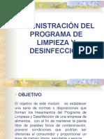 PROGRAMA DE  LIMPIEZA  Y DESINFECION