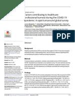 FactorscontributingtohealthcareprofessionalburnoutduringtheCOVID-19pandemicA rapidturnaroundglobalsurvey