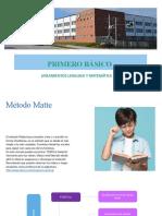 Orientaciones Lenguaje y Matemática Primero Básico
