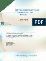 ANALGESICOS COADYUVANTES EN EL TRATAMIENTO DEL.pptx
