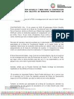 22-10-2020 Revisan Gobernador Astudillo y Mesa Para La Construcción de la Paz incidencia delictiva en municipios prioritarios de Guerrero.