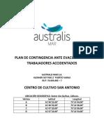 PLAN DE CONTINGENCIA ANTE EVACUACIÓN DE TRABAJADORES ACCIDENTADOS
