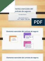 elementos esenciales del contrato de seguros