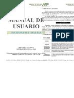 MANUAL DE USUARIO - ELEVADOR DE CANGILONES - EVC_003