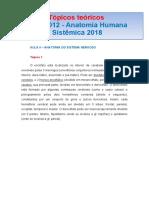 TÓPICOS TEÓRICOS  RFM 0012 AULA II SISTEMA NERVOSO.docx