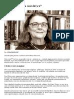 O que é a ciência econômica -  profa Leda Paulani