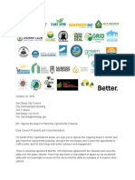 Coalition Letter in Opposition to Mayors Franchise Agreement Proposal