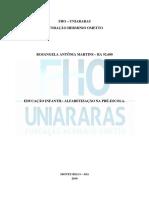 Memorial Descritivo Rosangela Antônia Marttins UNIARARAS 2019