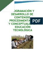 procedimentales y conceptuales en educación tecnológica