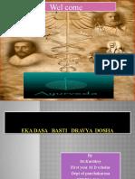 Eka Dasa Basti Dravya Dosa