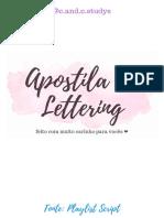 Apostila de Lettering candc