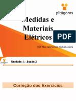 Medidas e Materiais Elétricos - Aula 4