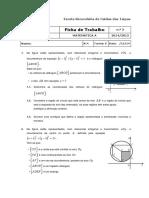 Ficha de trabalho 3 - Geometria Analítica - COM SOLUÇÕES