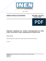 PERFILES ABIERTOS DE ACERO CONFORMADOS EN FRÍO PARA USO ESTRUCTURAL. REQUISITOS E INSPECCIÓN.pdf