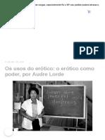 Texto 4.1_ Usos do Erótico_ O Erótico como Poder - Audre Lorde (1)