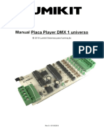 Manual placa Player DMX-1-universo