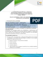 Guia de actividades y rubrica de evaluacion - Unidad 2 - Fase 3 - Distribucion y probabilidad