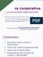 Cultura corporativa y productividad organizacional