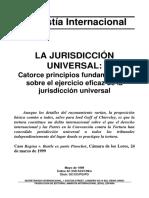 La jurisdicción Universal 14 principios ANMISTÍA INTERNACIONAL