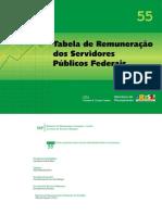 Tabela de Salarios de Servidores Federais