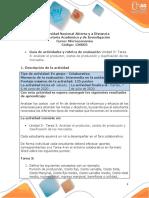 Formato Guia de actividades y Rúbrica de evaluación - Unidad 3– Tarea 3 Analizar el  productor, costos de producción y clasificación de los mercados (1)